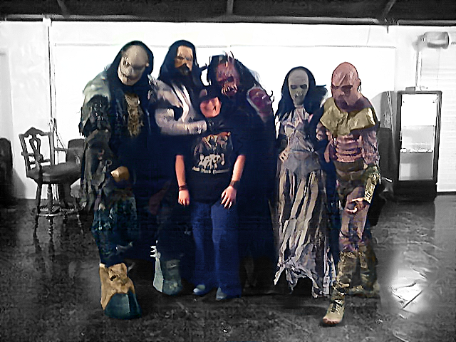 Me with the band, Lordi, in 2007